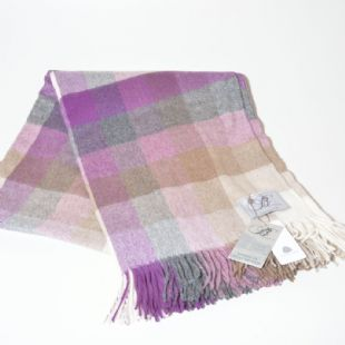 Bronte by Moon Harlequin Merino Lambswool Throw